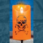 15cm Battery Halloween Dancing Flame Candle with Spooky Figure