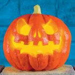 Battery Operated Halloween Light Up Pumpkin
