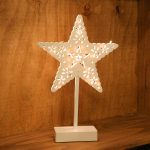 39cm Battery Star Plastic Table Light, 20 Warm White LEDs