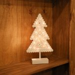 38.5cm Battery Tree Table Light, 20 Warm White LEDs