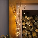 5 Decorative Willow Twig Lights, 50 Warm White LEDs, 87cm