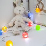 1.5m Multi Colour Marble Effect Battery Fairy Lights, 10 White LEDs
