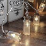 1.5m Frosted Glass Jar Battery Fairy Lights, 10 Warm White LEDs