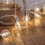 Mini Festoon Clear Bulb Battery Fairy Lights, 10 Warm White LEDs