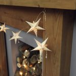 3m Battery Paper Star Chain Fairy Light, 10 Warm White LEDs