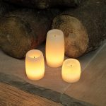 3 LED Round Wax Candles