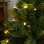 Indoor LED Christmas Tree Lights, Green Cable