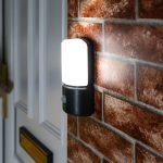Outdoor Battery Security Wall Light with PIR, White LEDs