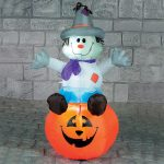 1.2m Outdoor Halloween Inflatable Scarecrow on Pumkpin Figure
