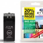 HP23/45 C1823DE 51645AE MULTIPACK Remanufactured Ink Cartridge by JetTec – H23 H45