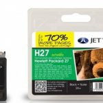 HP27 C8727AE Black Remanufactured Ink Cartridge by JetTec – H27