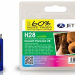HP28 C8728AE Colour Remanufactured Ink Cartridge by JetTec – H28