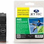 HP45 51645AE Black Remanufactured Ink Cartridge by JetTec – H45