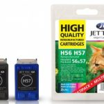 HP56/57 C6656AE C6657AE Duo MULTIPACK Remanufactured Ink Cartridge by JetTec – H56 H57