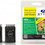 HP56 C6656AE Black TWINPACK Remanufactured Ink Cartridge by JetTec – H56 x 2