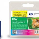 HP57 C6657AE Colour Remanufactured Ink Cartridge by JetTec – H57