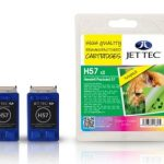 HP57 C6657AE Colour TWINPACK Remanufactured Ink Cartridge by JetTec – H57 x 2
