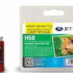 HP58 C6658AE Colour Remanufactured Ink Cartridge by JetTec – H58