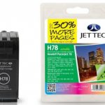 HP78 C6578AE Colour Remanufactured Ink Cartridge by JetTec – H78