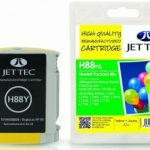 HP88 C9393A Yellow Remanufactured Ink Cartridge by JetTec – H88Y