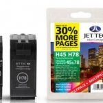 HP45/78 51645AE C6578AE  MULTIPACK Remanufactured Ink Cartridge by JetTec – H78 H45