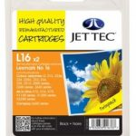 Lexmark 10N0016 Black TWINPACK Remanufactured Ink Cartridge by JetTec – L16 x 2