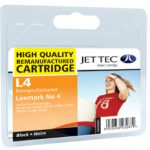 Lexmark No.4 Black Remanufactured Ink Cartridge by JetTec – L4