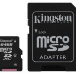 Kingston Micro SDXC (CLASS 10) with SD Adapter –  64GB