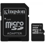 Kingston Micro SDHC (CLASS 10) with SD Adapter –  16GB