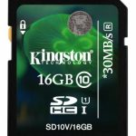 Kingston Secure Digital Card (SDHC) CLASS 10 – 16GB