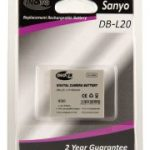 Sanyo DB-L20 Equivalent Digital Camera Battery by Inov8