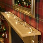 1.8m Gold & Copper Beaded Garland Fairy Lights, 20 Warm White LEDs