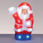 Acrylic Waving Santa 22cm Battery Operated