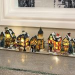 5 Set Christmas Village Scene,10cm