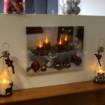 Christmas LED Candle Print 30 x 40cm