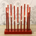 26cm Red Heart Battery Candlebridge, 16 Warm White LEDs