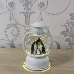 20cm Water Spinner with Penguin Family Lantern, Warm White LED