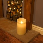 25cm Cream Battery Flickering Dancing Flame Candle