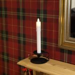 15cm Dancing Flame Battery Taper Candle with Holder