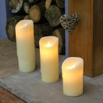 Dancing Flame Melted Wax Battery Candle, 3 Pack