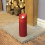 23 x 8cm Red Battery Flickering Dancing Flame Candle