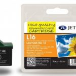 Lexmark 10N0016 Black Remanufactured Ink Cartridge by JetTec – L16