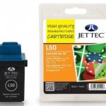 Lexmark 17G0050 Black Remanufactured Ink Cartridge by JetTec – L50