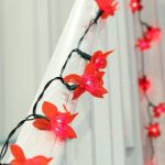 5.8m Traditional Poinsettia Fairy Lights, 40 Red Bulbs