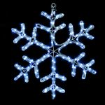 60 x 45cm Twinkling LED Snowflake Rope Light Christmas Silhouette