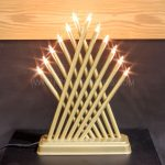 31cm Gold Candlebridge, 12 Warm White Bulbs