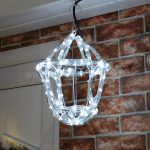 White rope light 3d Twinkling Lantern 26cm