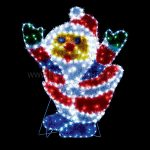 99 x 80cm Multi Colour Tinsel Santa Silhouette, 86 LEDs