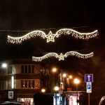 2 Illuminated 'Portobello' Warm White Cross Street Motif, 2.8m