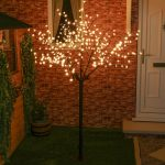 2m Warm White Blossom Tree – Connectable, 320 LEDs, Green Cable